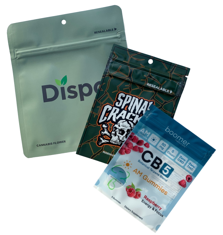 Child Resistant Digitally Printed Pouches