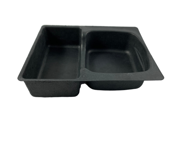Molded Pulp Tray with Two Sections