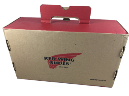 Recycled Shoe Box Packaging